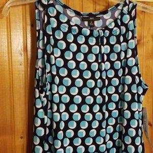 Navy/Aqua NWT Aline dress, M